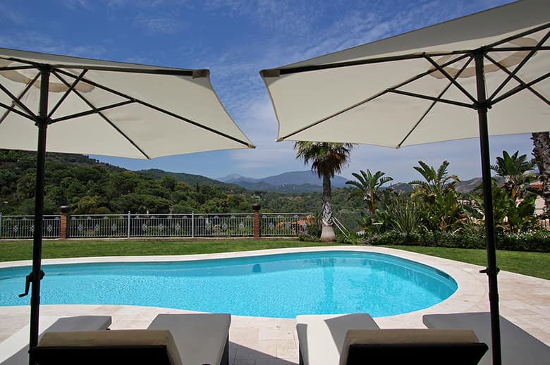 Stunning views from the private outdoor pool