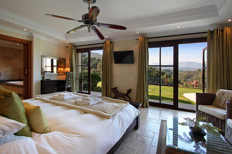 Each of the seven bedrooms is spacious and luxurious with a spectacular view